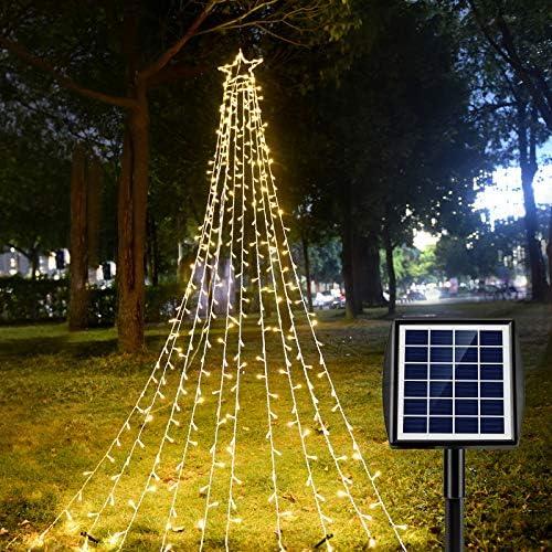 Ankway 370 LED Catena luminosa Solare, Stringa Luci Solari Impermeabili IP67 Lucine da Esterno Decorative per Addobbo Capodanno, Vacanze, Matrimoni, Feste da Cortile, Giardino, Albero Natale
