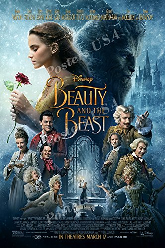Movie Beast Poster - Posters USA - Disney Beauty and the Beast Movie Poster GLOSSY FINISH - MOV825 (24