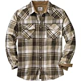 Legendary Whitetails Men's Shotgun Western Flannel Tobacco X-Large