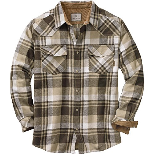 Legendary Whitetails Men's Shotgun Western Flannel Tobacco