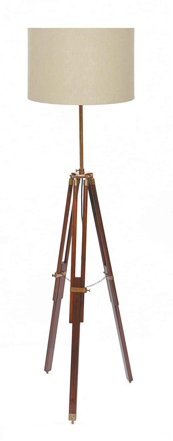 Pacific Lighting 866-AB Wood Tripod Floor Lamp Base Only, Dark ...