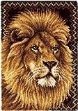 Wonderart Latch Hook Kit 27 Inch x40 Inch -Lion