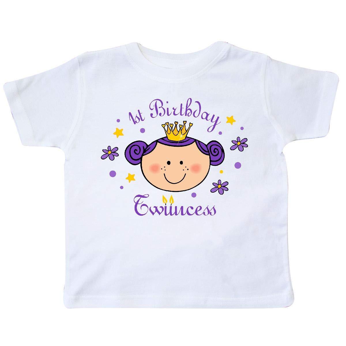 inktastic 1st Birthday Twincess Toddler T-Shirt