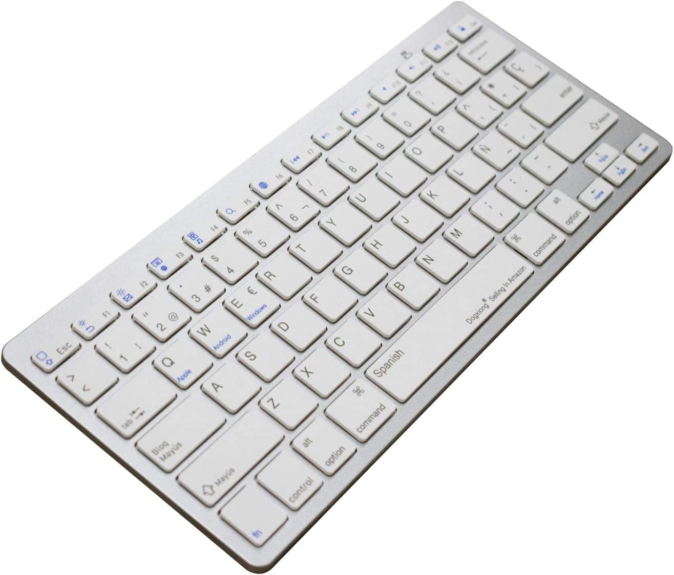 Work Efficiency Spanish Spain Language Functional Shortcuts Hotkey Wireless Bluetooth Keyboard For Dell Thinkpad iMac Macbook Pro,iPad Pro 11 12.9, iPad Air Mini,iPhone X XS XR MAX Surface Pro 4 5 6 7