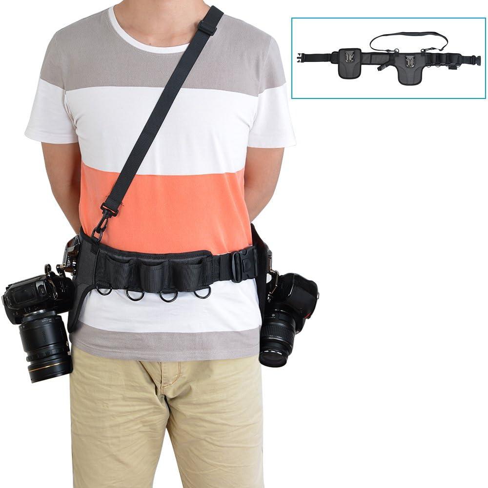 Caden Universal Kamera Hüftgurt Bund Halter 2 Kamera