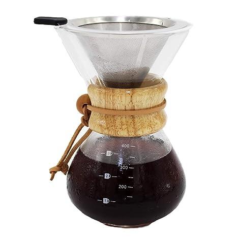 Amazon.com: Cafetera con jarra de cristal de borosilicato y ...