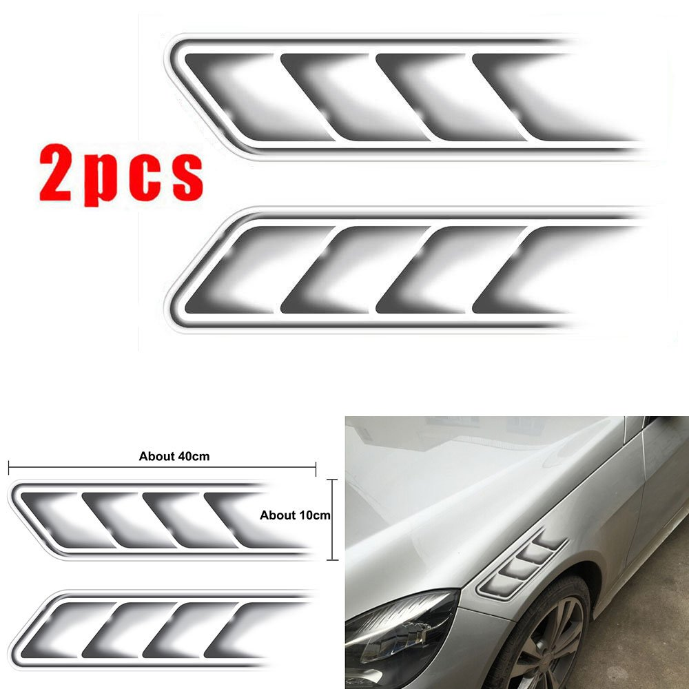 Amazon com champled 2pcs sline car side vents modified shark gills stickers hood motorcycle auto car for acura nissan mitsubishi subaru mazda car