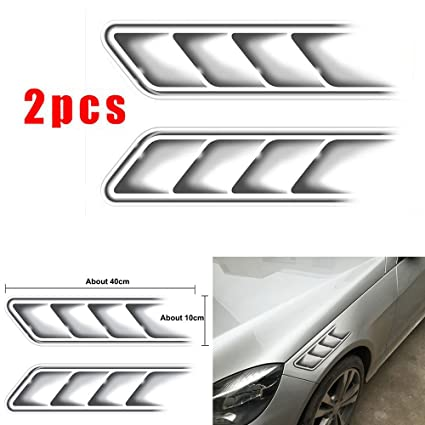 Amazon com: CHAMPLED 2Pcs SLine Car Side Vents Modified