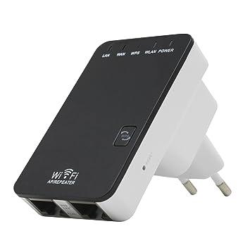 TOOGOO 300M Repetidor de senal inalambrica Amplificador de senal inalambrico WiFi Mini Puerto de Red Doble de retransmision inalambrica Enchufe de la UE: ...