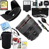 Canon (2750B002) EF 24mm f/1.4L II USM Lens + 64GB Ultimate Filter & Flash Photography Bundle