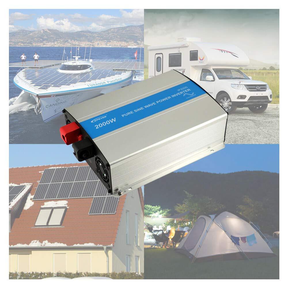 50HZ 60HZ Solar Inverter 500W 12VDC Input 110VAC 120VAC Output EPEVER 500W Pure Sine Wave Inverter