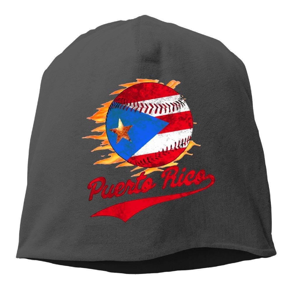 TGSCBN Puerto Rico Bola de b/éisbol Bandera Gorro de Invierno Gorro de Calavera Gorro de Punto c/álido de esqu/í Sombrero Holgado Durable
