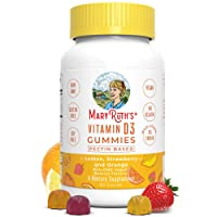 Vegan Vitamin D3 Gummy (Plant-Based) by MaryRuth's - Made from Lichen! Non-GMO,...