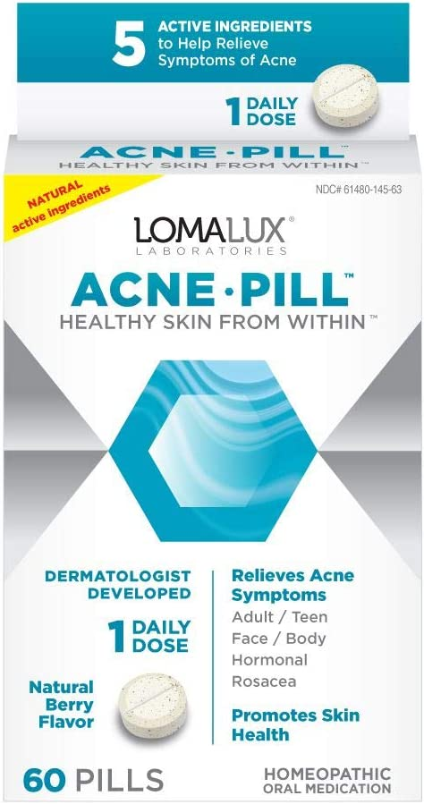 Amazon Com Loma Lux Acne Pill All Natural Skin Clearing