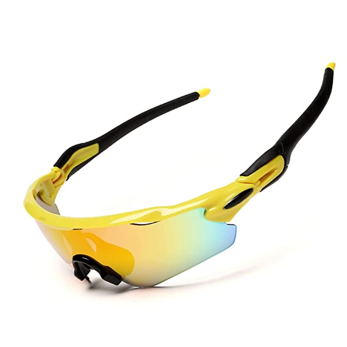 Beydodo Gafas Protectoras de Seguridad Gafas Deporte Polarizadas Gafas de Seguridad Amarillo Negro