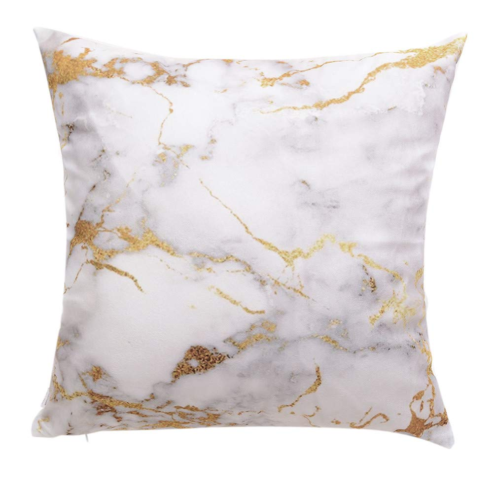 Hongxin Pillow Case,1PC 45×45cm Flannel Simple Upholstery Cushion Cover Flannelette Throw Pillow Cases Home Decor (D, 45×45cm)