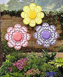 Jumbo Chevron flor colgar en la pared Juego Jardín Patio al aire libre decoración