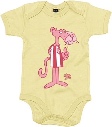 Body bebé Atlético de Madrid la Pantera rosa 2 Jorge Crespo - Amarillo, 6-12 meses: Amazon.es: Bebé