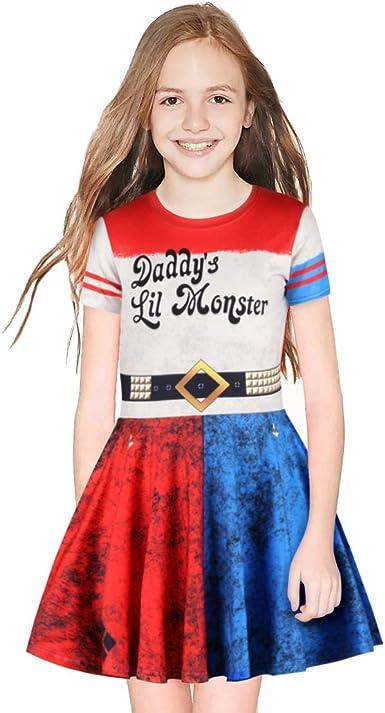 Vestidos para niñas Harley Quinn Suicide Squad para niños Fiesta ...