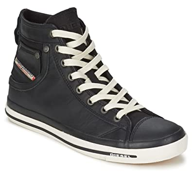2b1cd30ce1 Diesel Exposure iv Black White New Womens Leather Hi Top Trainers Shoes  Boots-8