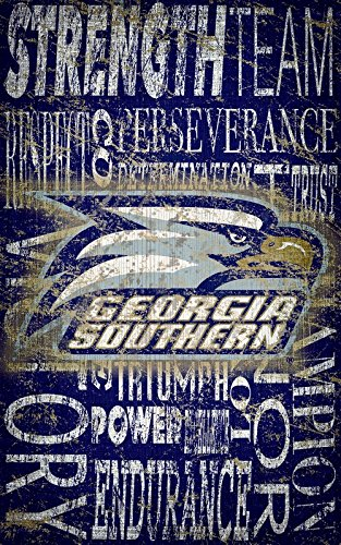 Fan Creations Georgia Southern Heritage Word Collage 11 x 19, Multi - Creation Collage