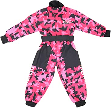 Black XS 3-4 Years Leopard CUB Kids Motocross CAMO Suit Children Motorbike Motorcycle Race Clothing ATV Karting Suit Overall 1PC