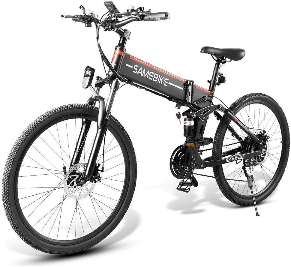 Lixada Bicicleta Eléctrica Plegable Motor 48V 500W Rueda 26 Pulgadas Radio de Velocidad Variable E-Bike Scooter Ciclomotor: Amazon.es: Deportes y aire libre