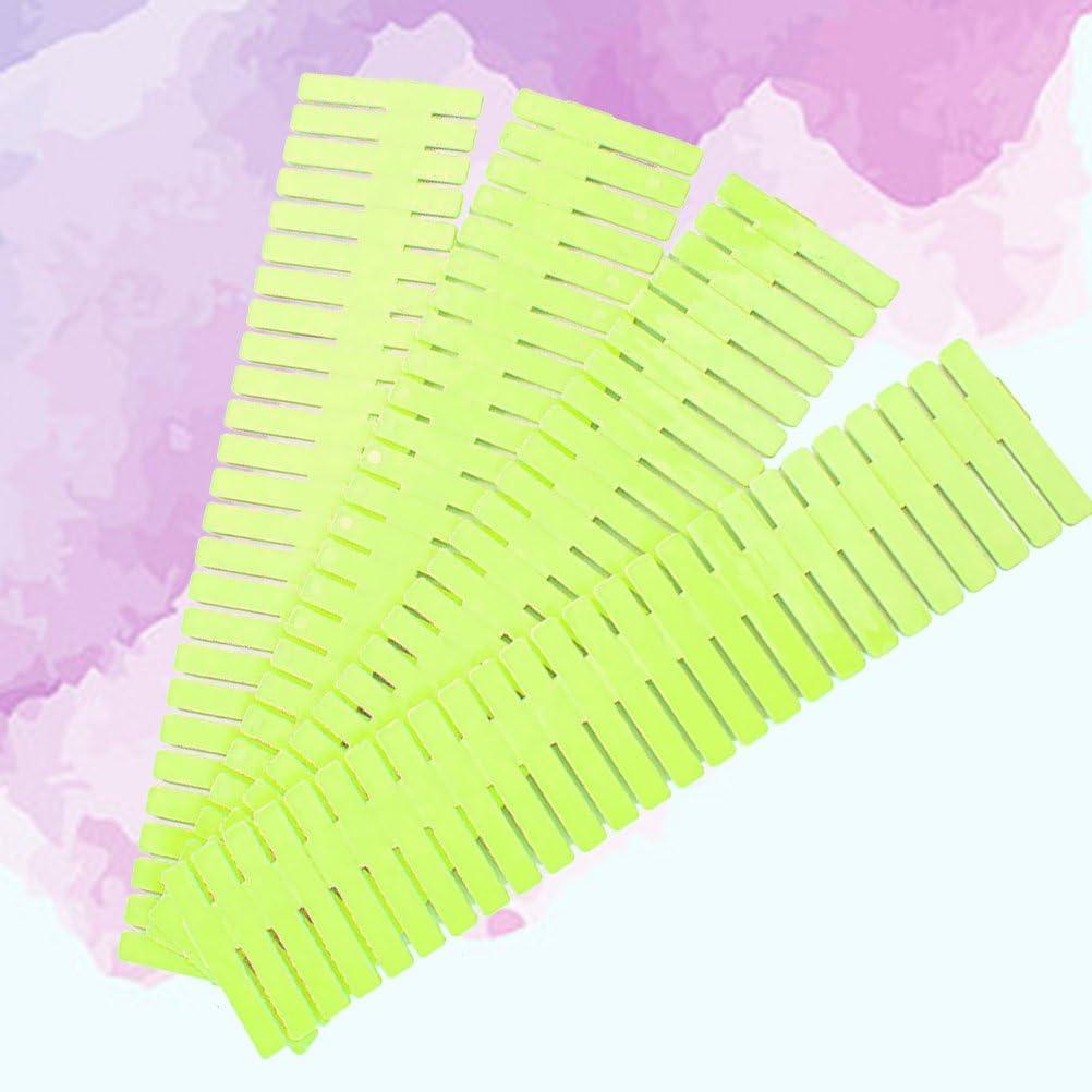 OUNONA DIY Plastic Drawer Organizer Dividers for Dresser Storage Household Storage Closet Makeup Socks Underwear Scarves Home Tidy 32.4 x 7cm 4PCS Green