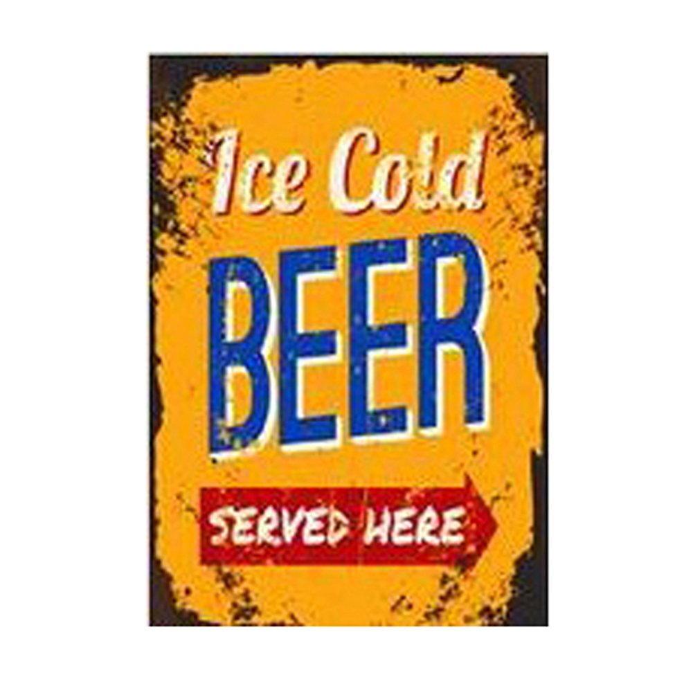 Amazon.com: Vintage Painting Wall Art Metal Signs Retro Beer for Bar ...