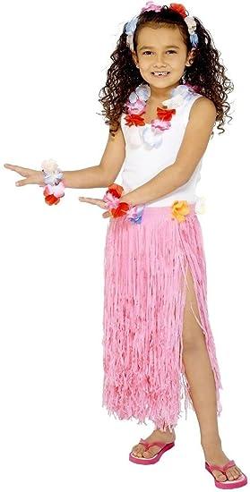 Kids - Disfraz de hawaiana para niña, talla única (28986 ...