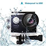 Yuntab HD 1080P 30fps 12 Mega Pixels Sport Mini DV Action Camera 2.0'' LCD 170° Wide Angle Lens 30M Waterproof WiFi Remote Control Outdoor Sports (Black)