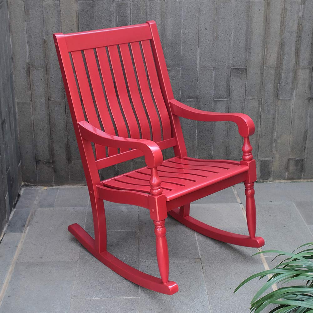 Cambridge-Casual AMZ-130826RD Thames Oversized Rocking Chair, Red by Cambridge-Casual