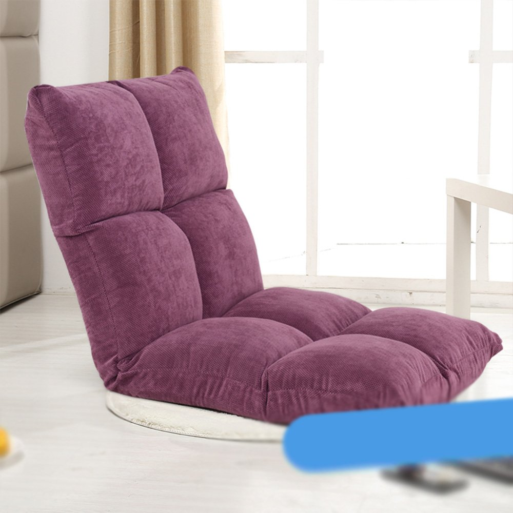 Lazy sofa / single person floating window chair / dormitory bed leisure back chair ( Color : Purple )