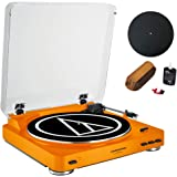 Audio-Technica Fully Automatic Stereo Turntable System Orange (AT-LP60OR) + Universal 12