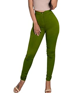 Minetom Femme Sexy Taille Haute Couleur Solide Stretch Pantalon Serré Slim  Collant Push Up Leggings Jambières 9f5027b41cb