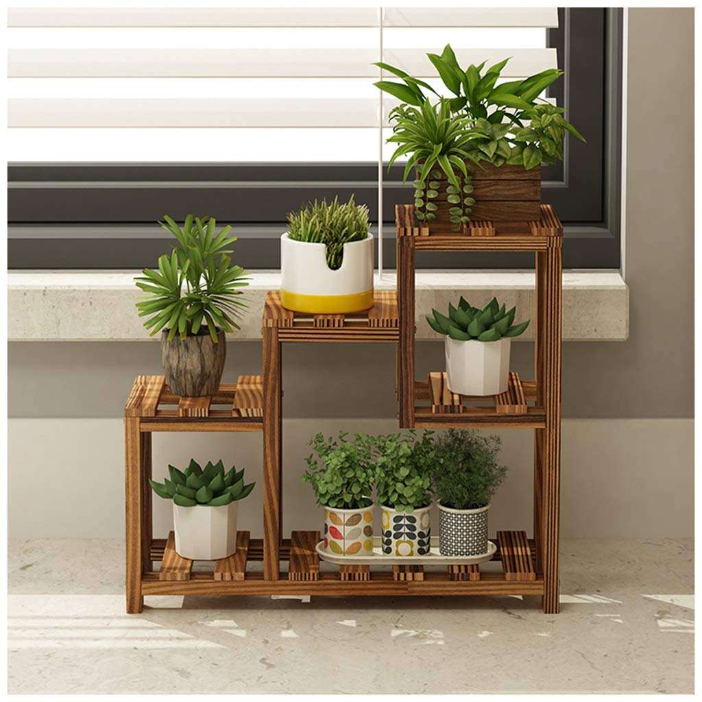 SMC bay Window Windowsill Shelf Succulente Piccola mensola a Fiori Multi-Layer Indoor Balcony Decoration Living Room (Colore   Marronee)