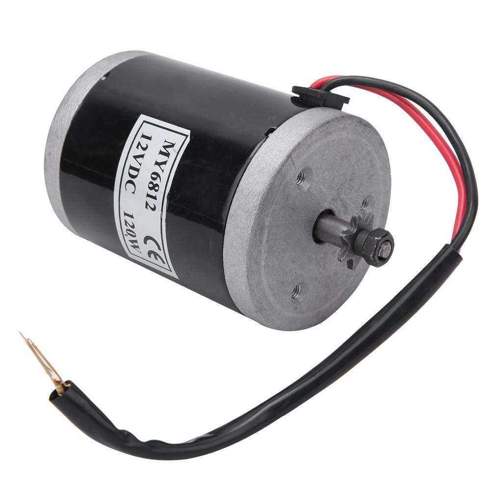 Alomejor Brushed Motor 12V 120W High Speed Brush Motor Mini DC Motor Electric Motor for Electric Bike Replacement