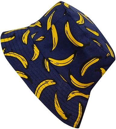 riou Sombrero para el Sol Gorro protección UV Plegable Pesca Hat Bandeja de Visera de Viaje de Doble Cara de Pescador de Bordado de plátano para ...