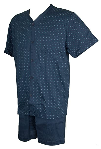 b718752f33 RAGNO Pigiama Uomo Cotone Jersey Manica Corta Aperto con Bottoni Articolo  N24285: Amazon.it: Abbigliamento