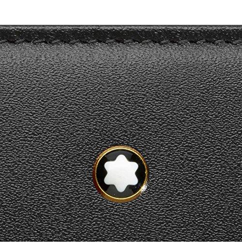 Montblanc Meisterstück längliche Brieftasche 8 cc mit umlaufendem Reißverschluss Münzbörse, 20 cm, Schwarz