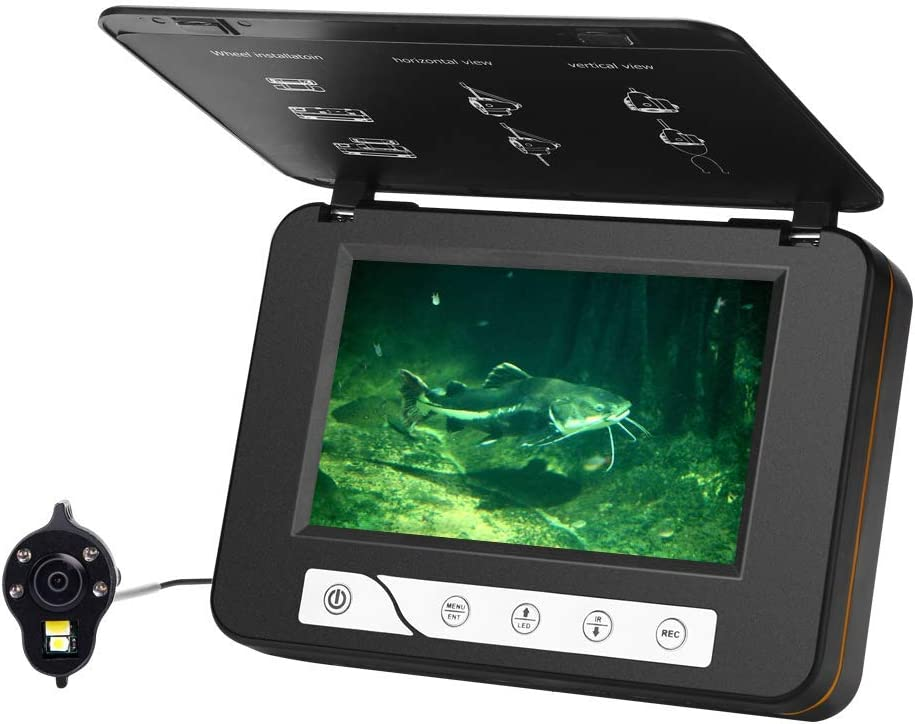 best underwater fishing camera: Moocor 4.3 Inch Underwater Fishing Camera HD 1000 TVL