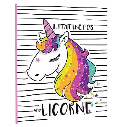 Carpeta escolar A4 unicornio Il era una vez 4 anillas ...