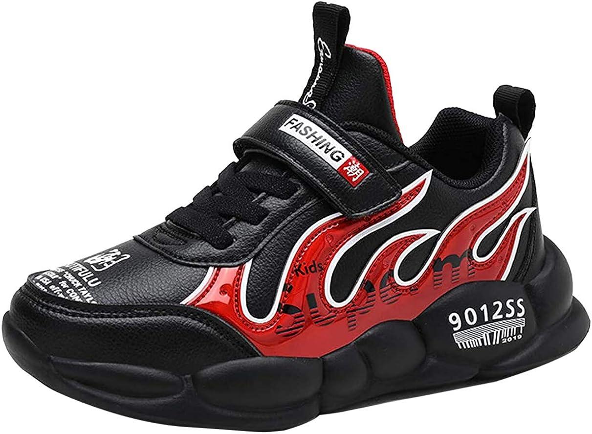 Goalsse Zapatillas Deportivas Niños Zapatillas de Running Casual Zapatos Deporte Transpirables Calzado con Velcro para Niño, Niña, Junior (31 EU, Negro Rojo): Amazon.es: Zapatos y complementos