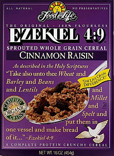 Food For Life Ezekiel 4:9 Sprouted Grain Cereal Cinnamon Raisin -- 16 oz - 2 pc