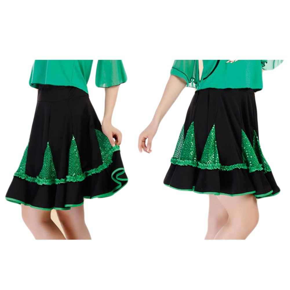 788c37c91d5f Amazon.com: Saymequeen Women Ballroom Dancing Skirts Dress Latin Dance  Square Dance Skirt: Clothing