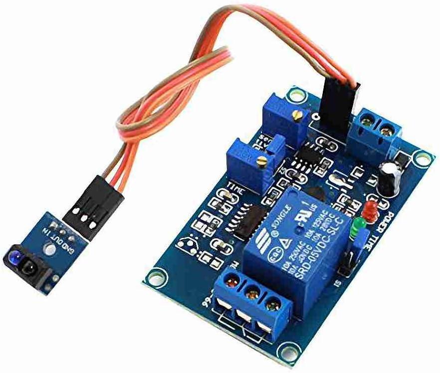 Movimiento y movimiento DC5V 0-20S TCRT5000 1 ch Sensor infrarrojo retardo de tiempo Módulo de relé verde: Amazon.es: Bricolaje y herramientas