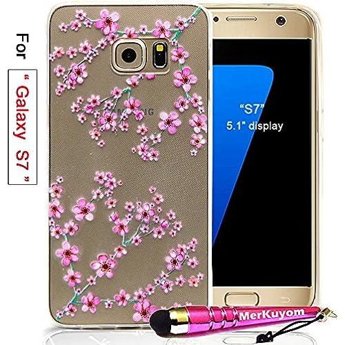 Fit [Galaxy S7], Galaxy S7 Case, MerKuyom [Clear Transparent] [Slim-fit] Thin Flexible Gel Soft TPU Case Skin Cover For Samsung Galaxy S7 5.1 Display, W/ Stylus Sales