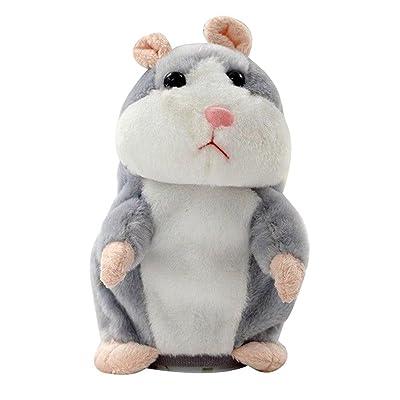 Adorable Interessant Speak Talking Record Hamster Mouse Plush Jouets pour enfants Cadeau Noël/ Anniversaire/ Grâces/Party-18cm,Répète ce que tu dis