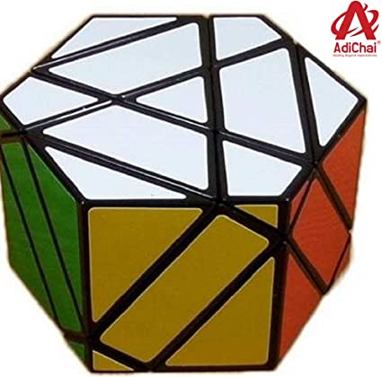 AdiChai 3 Layers Hexagonal Prism High Speed Sticker Less Magic Puzzle Cube from Dian Sheng Magic Cube Square