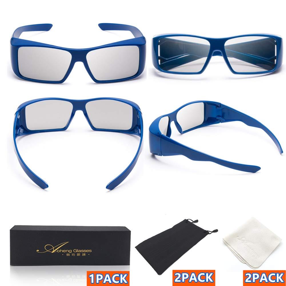 Gafas 3D de Luces polarizadas Circulares Ultra claras pasivas 2 Piezas RealD Bien Dise?adas para Cine